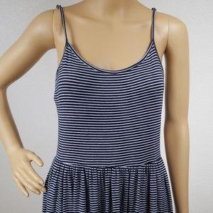 XXI   Striped flowy spaghetti strap dress H4